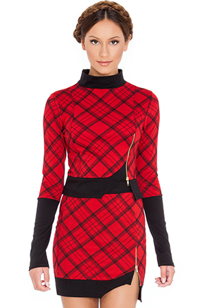 Turtleneck-tartan-top