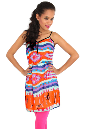 Wholesale Tribal Print Sun Dress