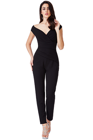 Wholesale-Bardot-Pleated-Jumpsuit