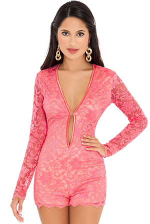 Wholesale Lace Playsuit
