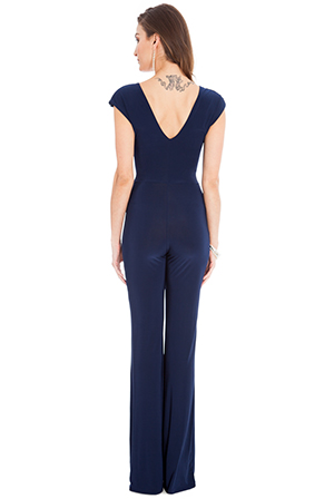 Wholesale Deep V neck jumpsuit