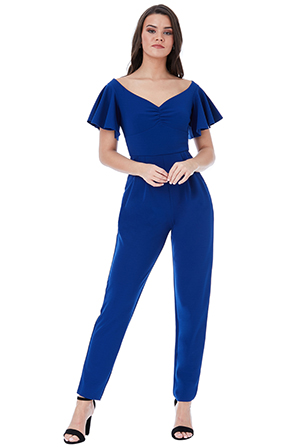 Wholesale-Off-the-Shoulder-Jumpsuit-with-Ruffle-Sleeves