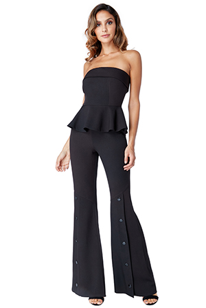 Wholesale-Strapless-Peplum-Bell-Bottom-Jumpsuit