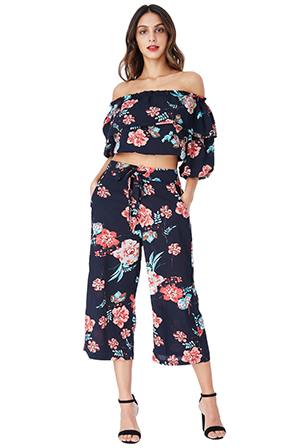 Wholesale-Navy-Floral-Co-ord-Top-and-Trouser-Set