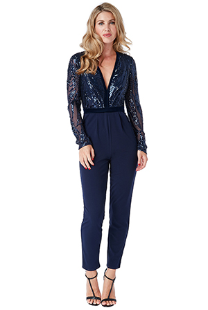 Deep-V-Neck-Sequin-Embroidered-Jumpsuit