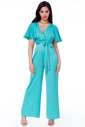 Wholesale-Satin-Waterfall-Sleeve-Jumpsuit-TR255