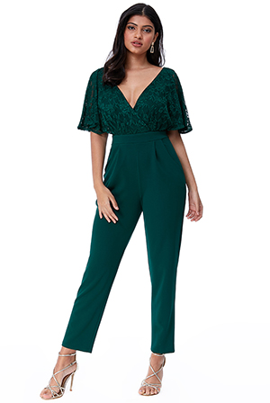 Wholesale-Lace-Wrap-Jumpsuit-with-Flutter-Sleeves-TR273
