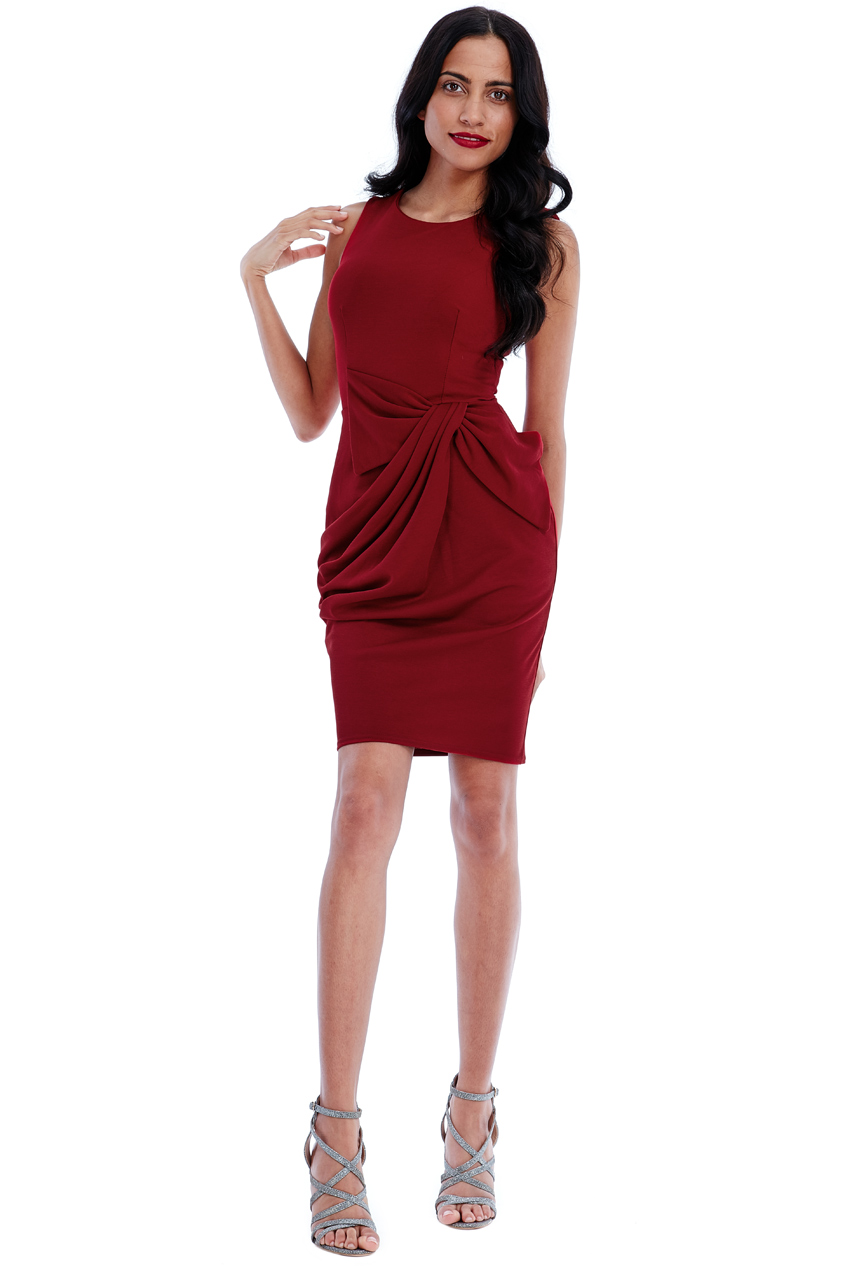 Wholesale Draped Front Dress