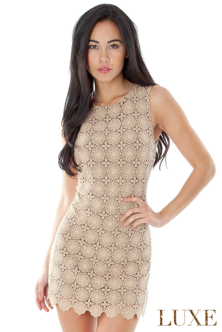 Wholesale Knitted Crochet Shift Dress