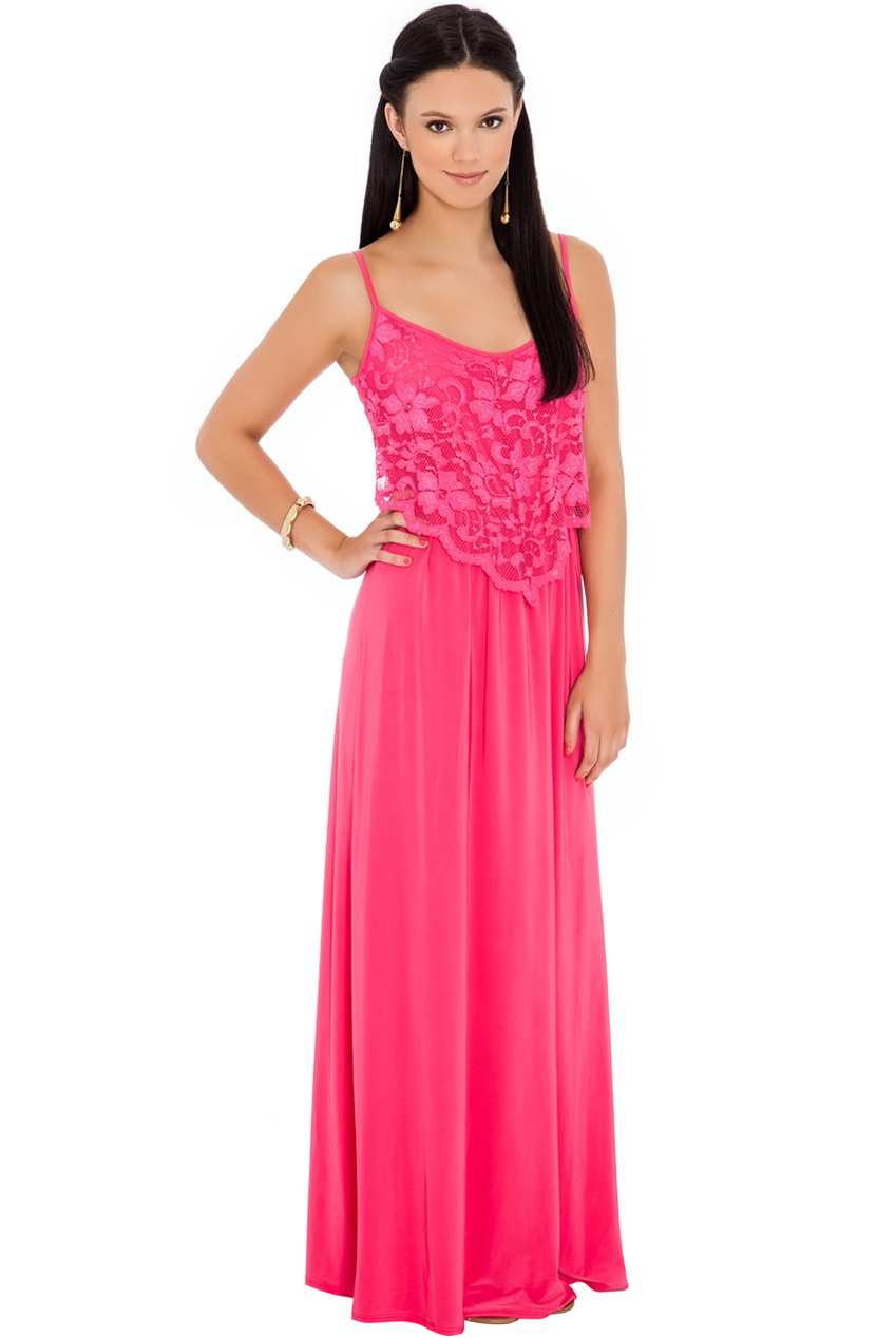 Wholesale Strapy Lace detailed maxi