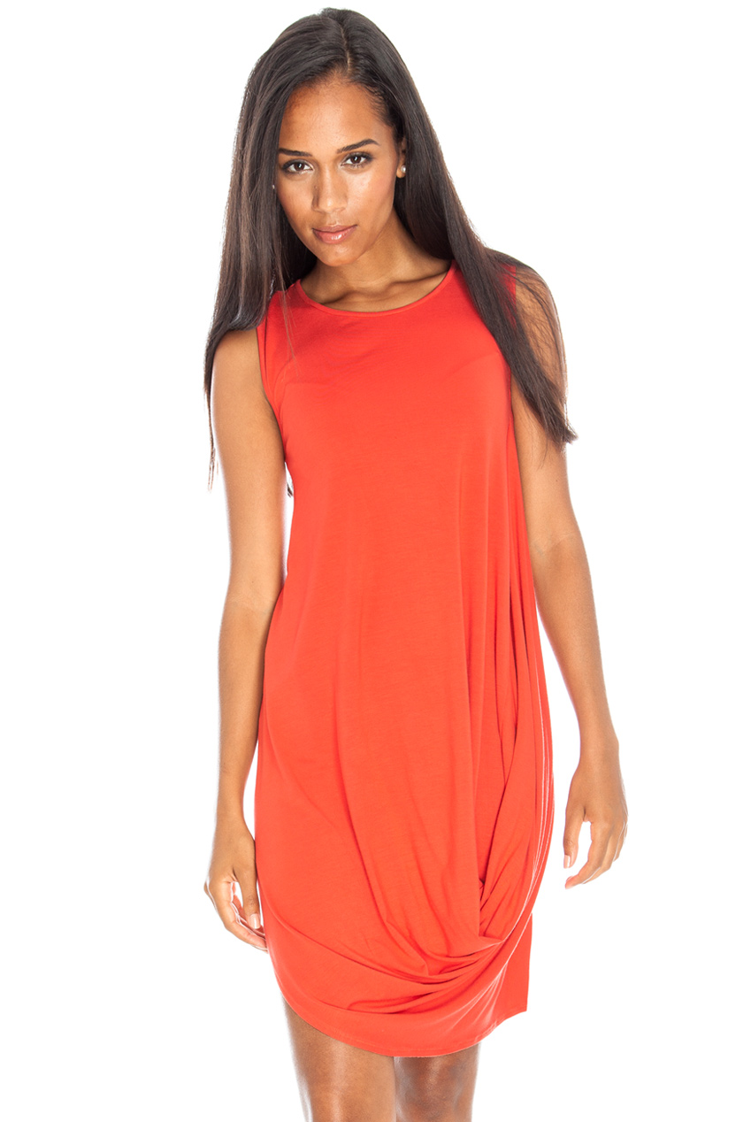 Wholesale Sleeveless drape jersey dress