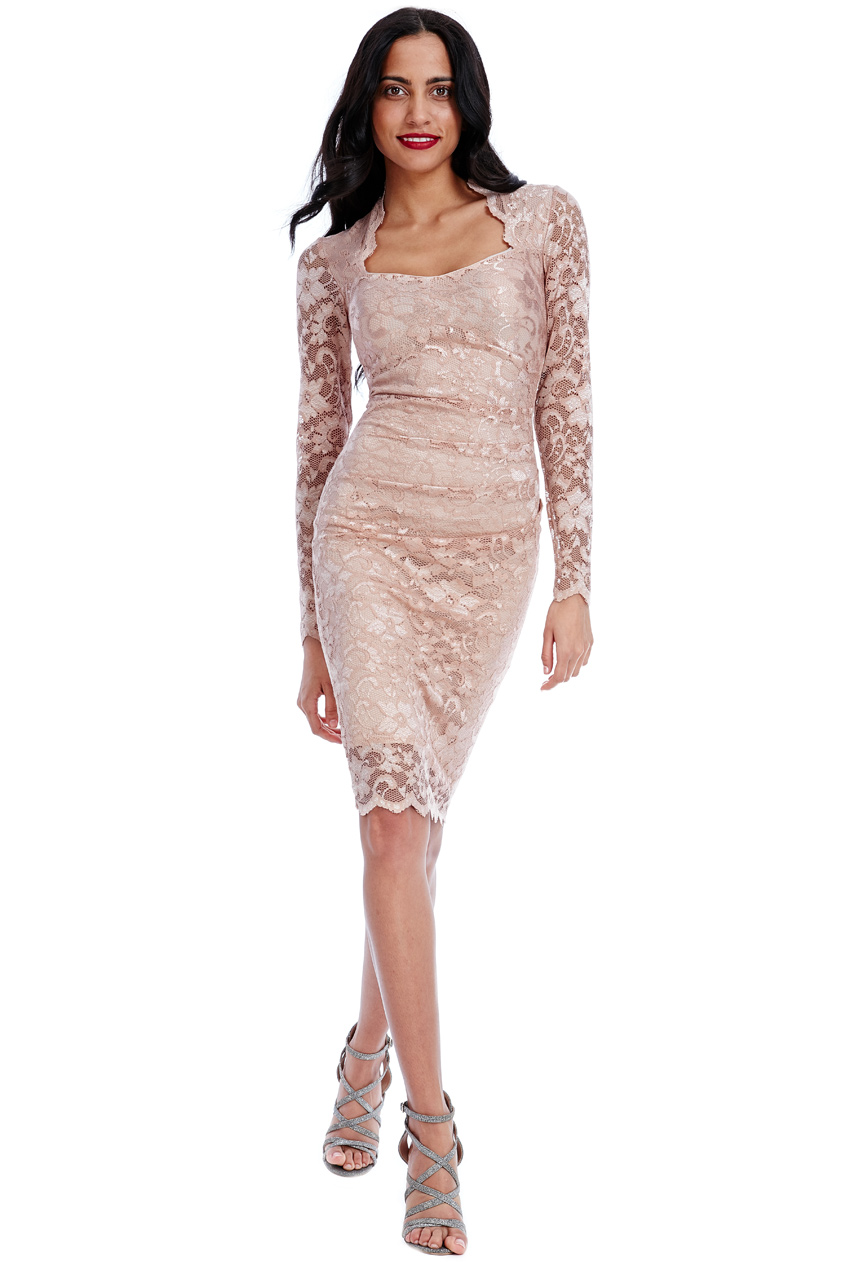 Wholesale Lace Dress with Sweet-Heart Neckline in the style of Nicole Scherzinger