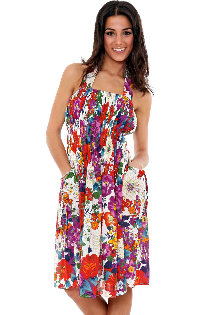 Wholesale Floral Cotton Summer Dress