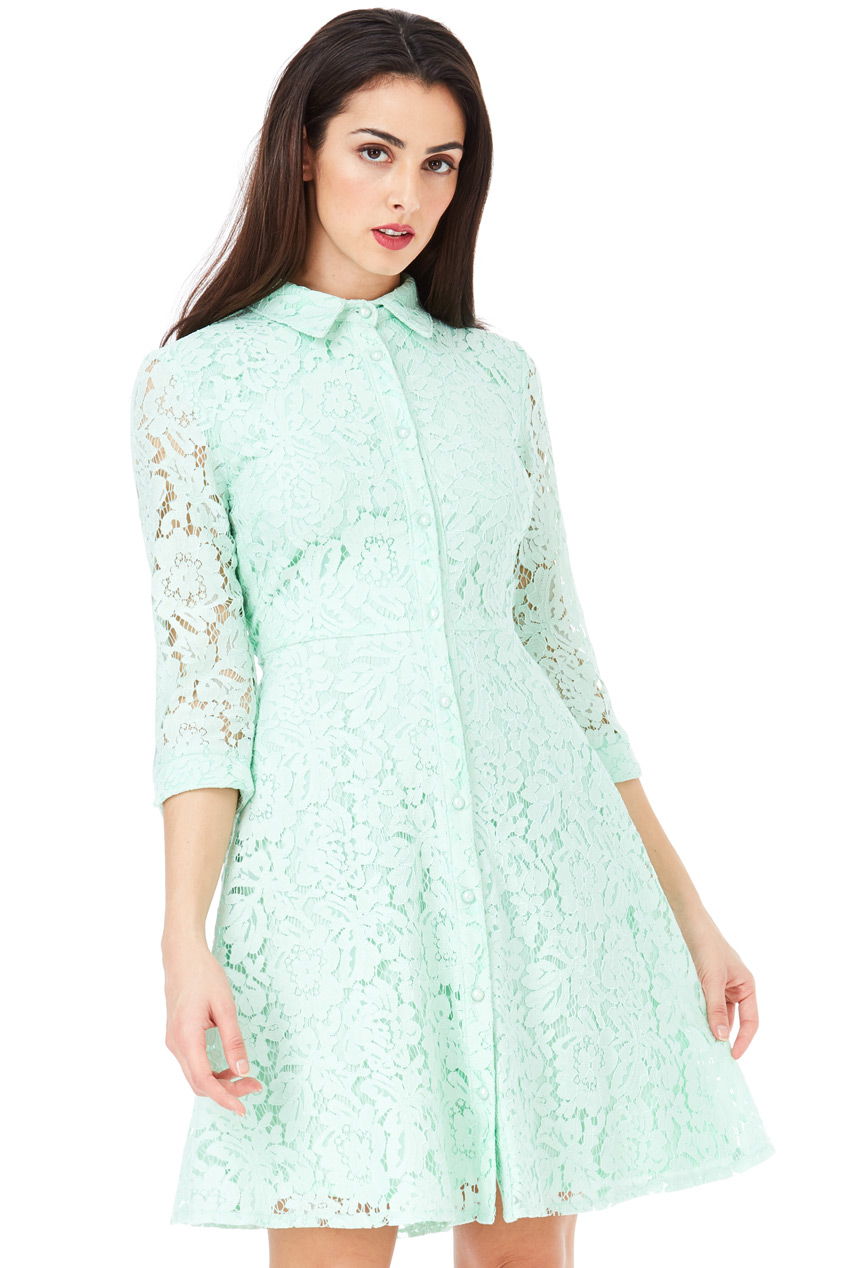 Wholesale Lace Shirt Dress