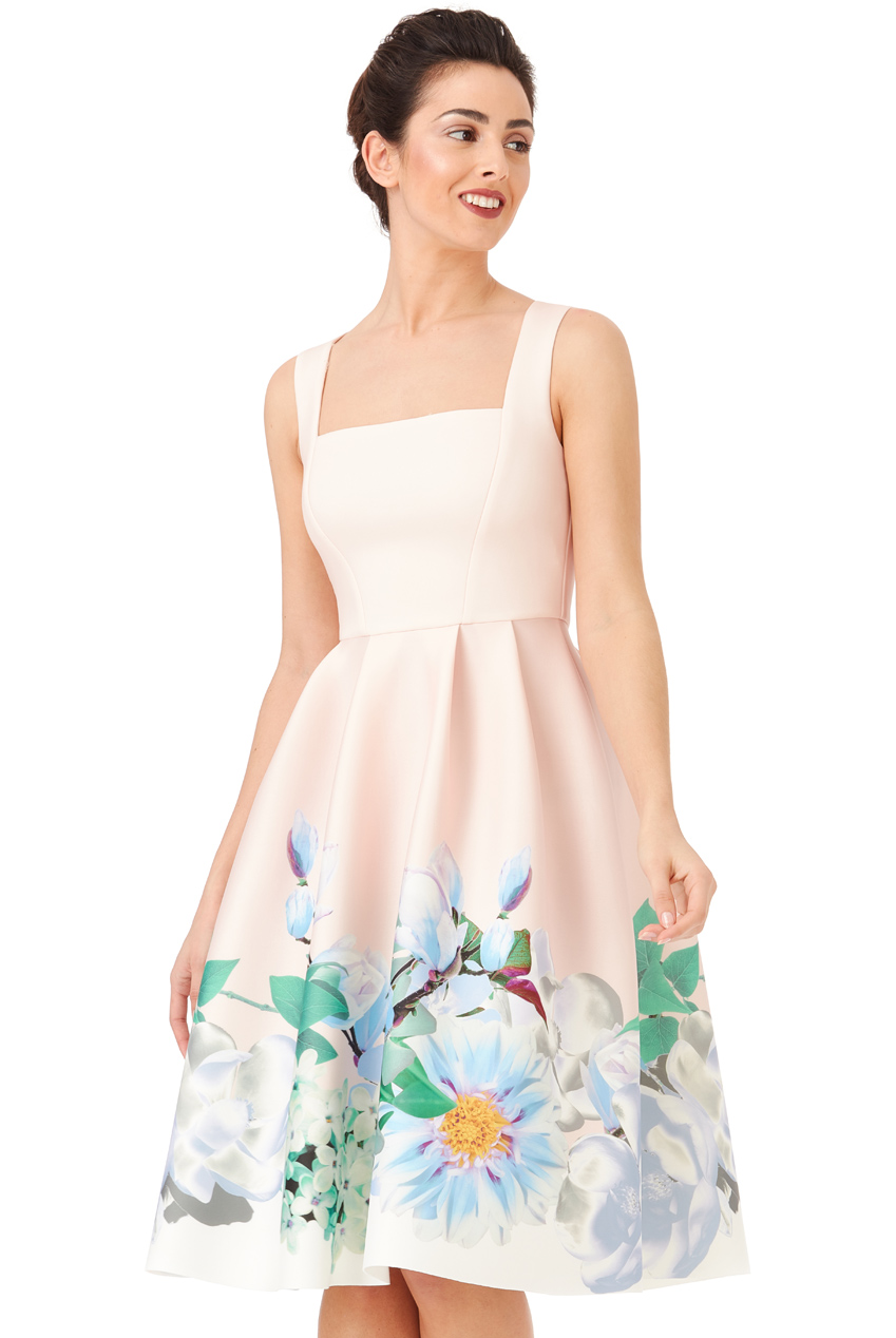 Wholesale Floral Print Midi Dress
