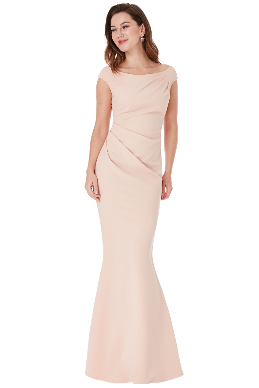 Wholesale Fishtail Maxi Dress with Pleating Detail