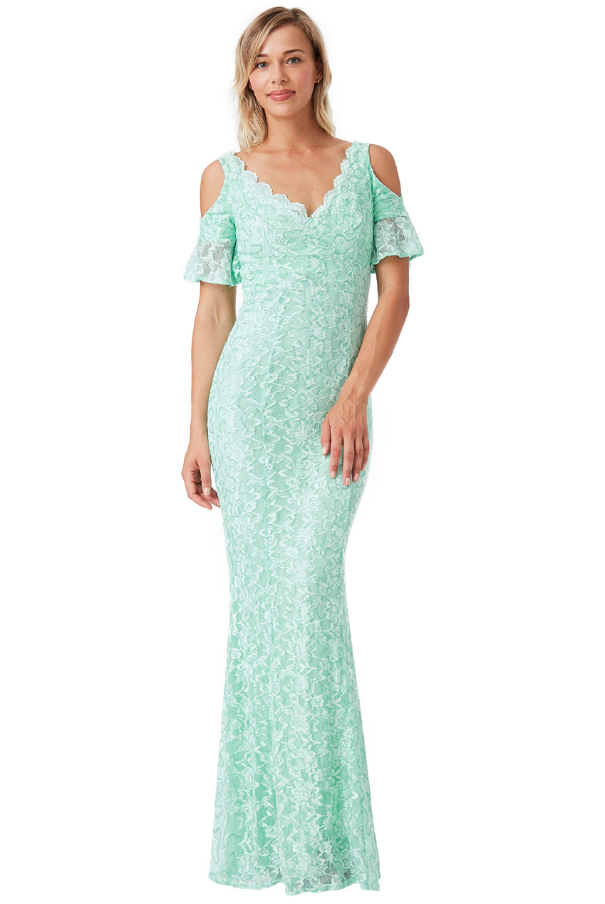 Wholesale Cut Out Lace Maxi Dress