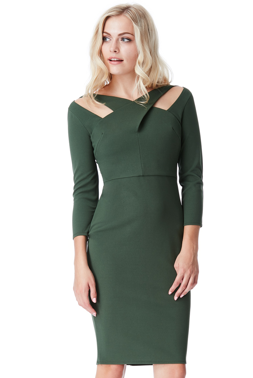 Wholesale Cross Over Midi Dress