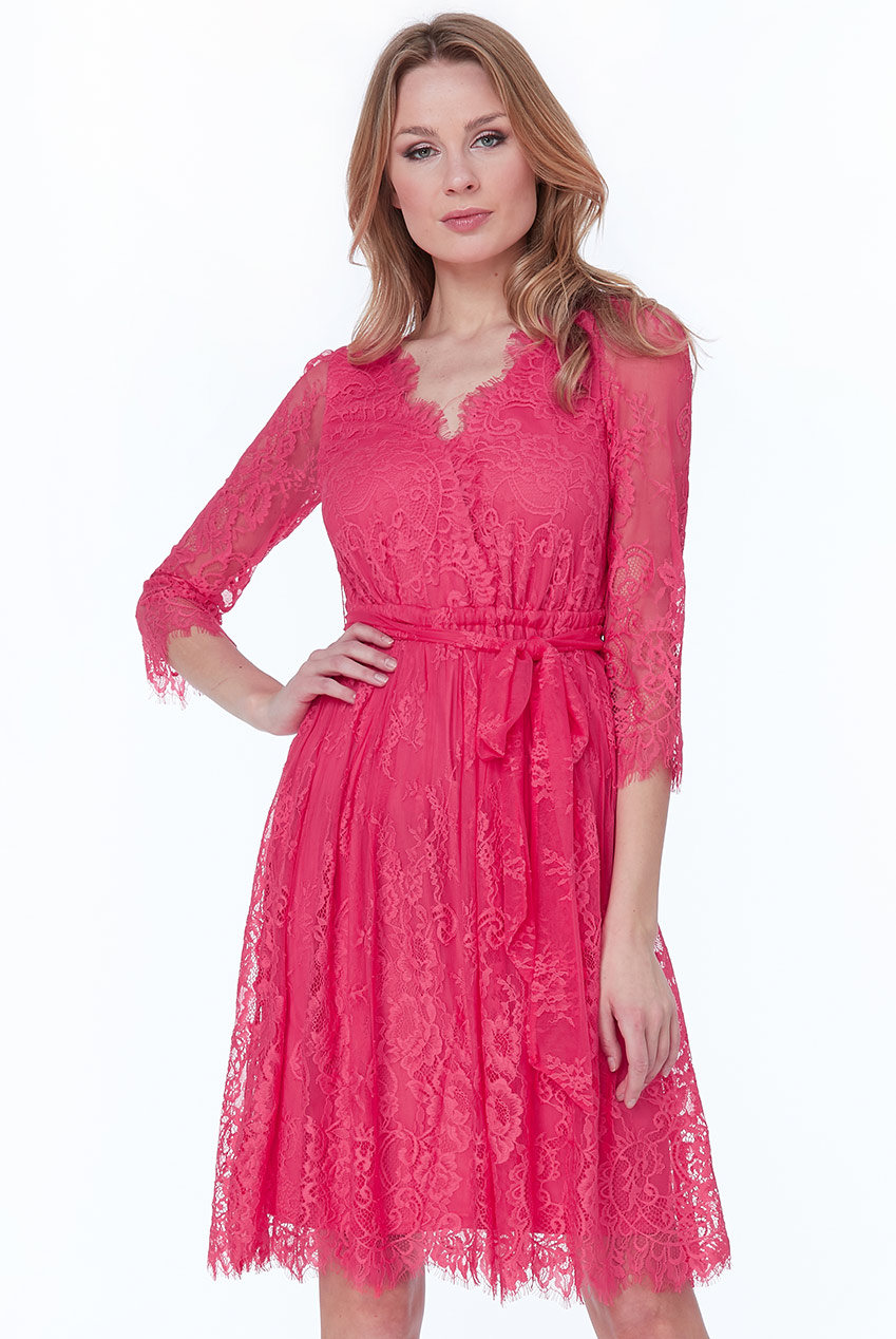 Wholesale Lace V-Neck Midi Dress
