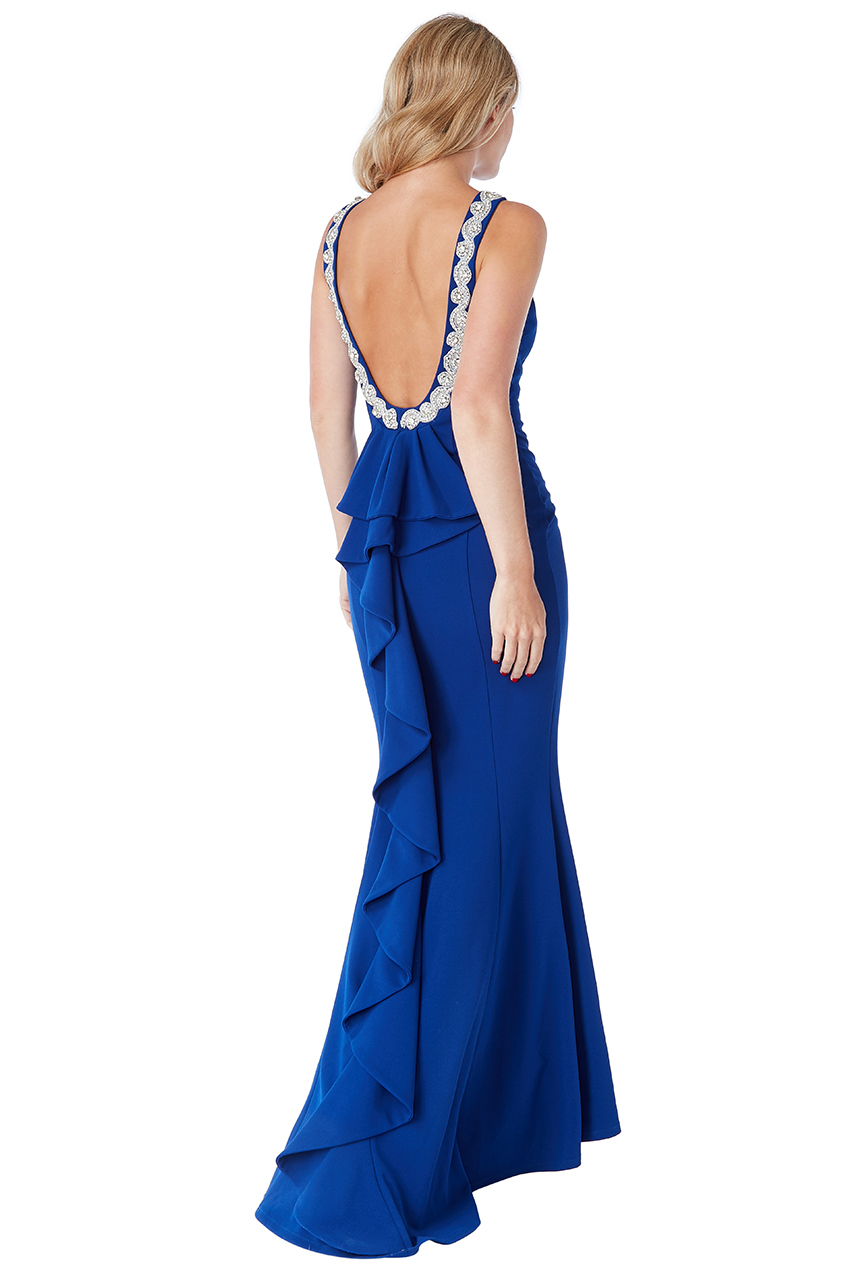 Wholesale Halter Neck Fishtail Maxi Dress