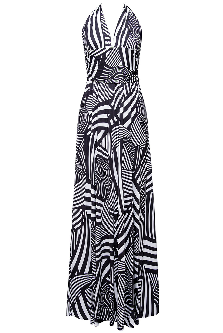 Wholesale Printed Multiway Maxi Dress