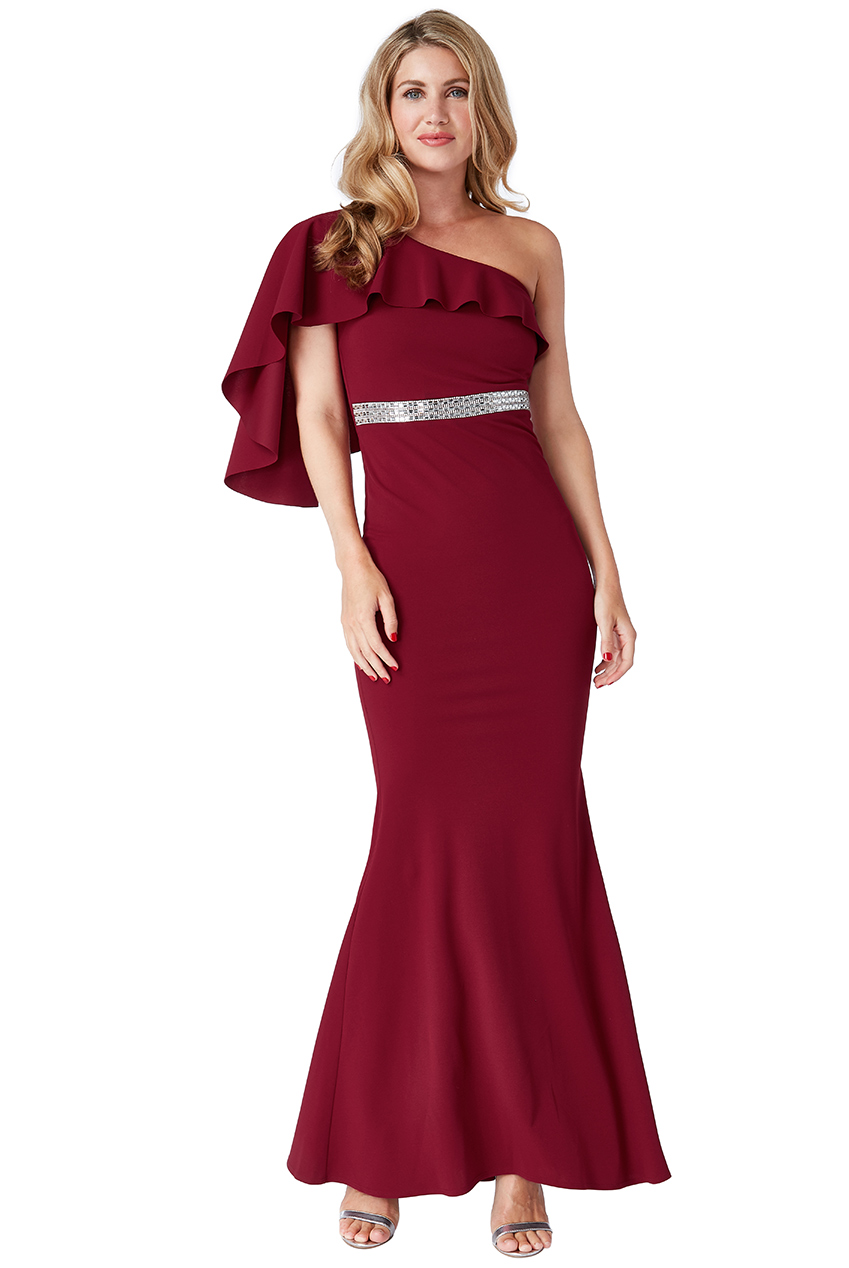 Wholesale Off The Shoulder Flair Maxi Dress