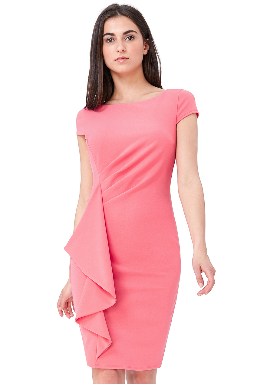 Wholesale Front Frill Midi Dress