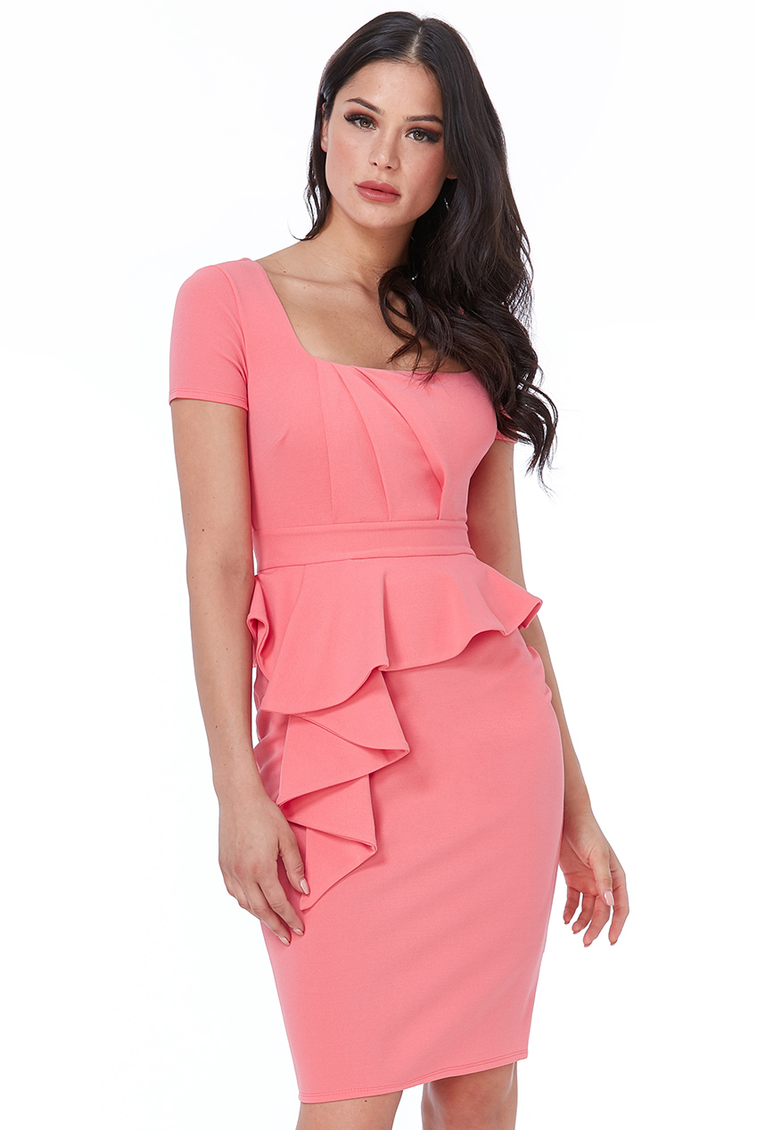 Wholesale Peplum Midi Dress