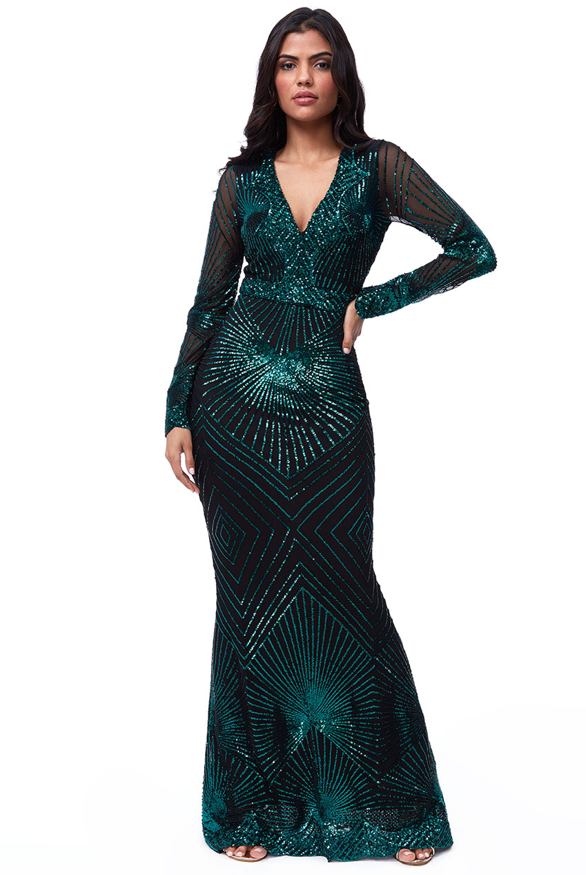 Wholesale Starburst Sequin Maxi Dress