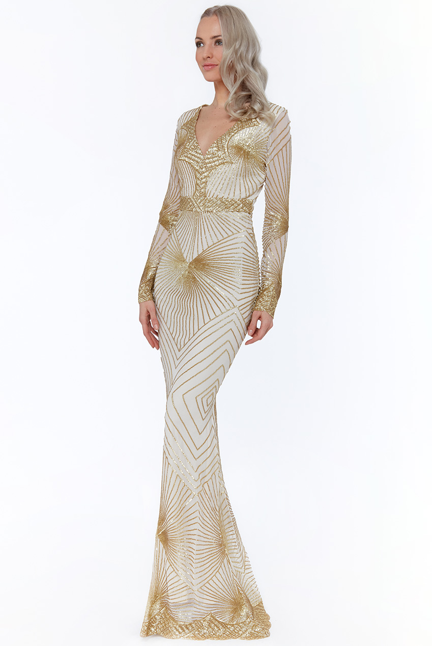 dd91566b1c Wholesale Stephanie Pratt - Starburst Sequin Maxi Dress - City Goddess