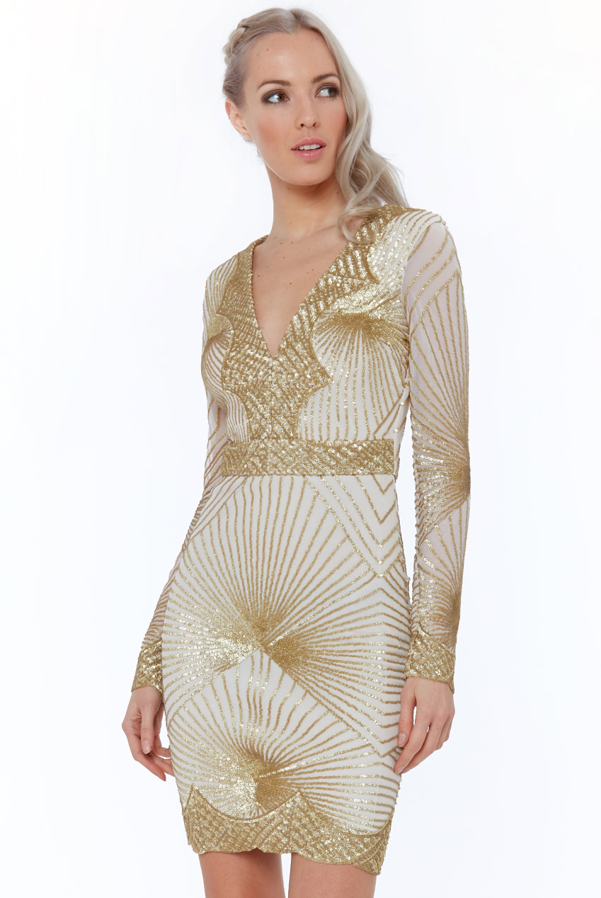 Wholesale Starburst Sequin Mini Dress