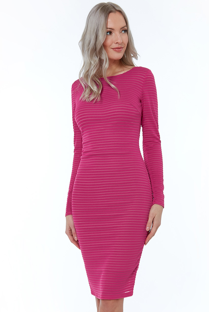 Wholesale Long Sleeve Bodycon Midi Dress City Goddess