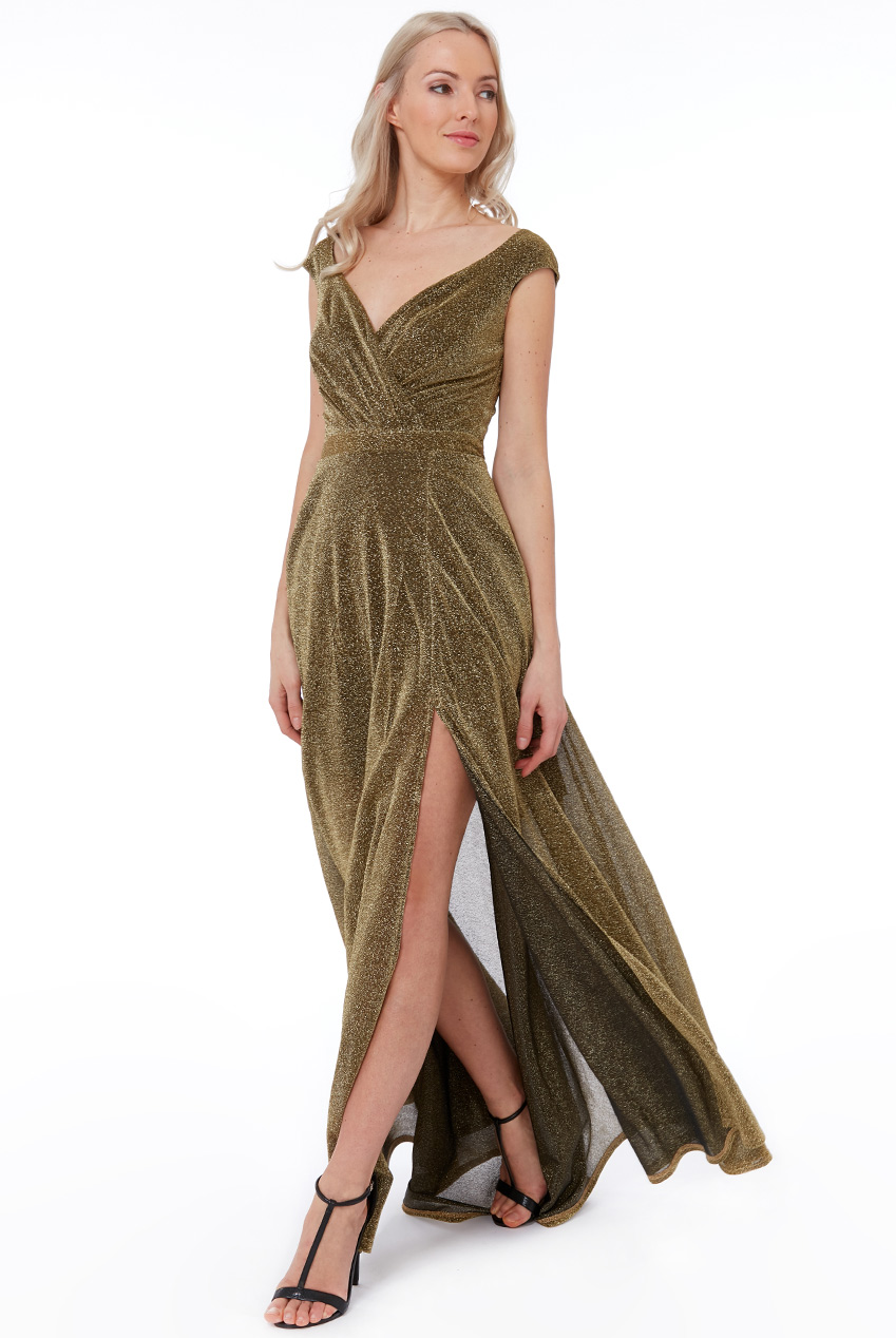 Wholesale Cross Over Sleeveless Maxi Dress with Split