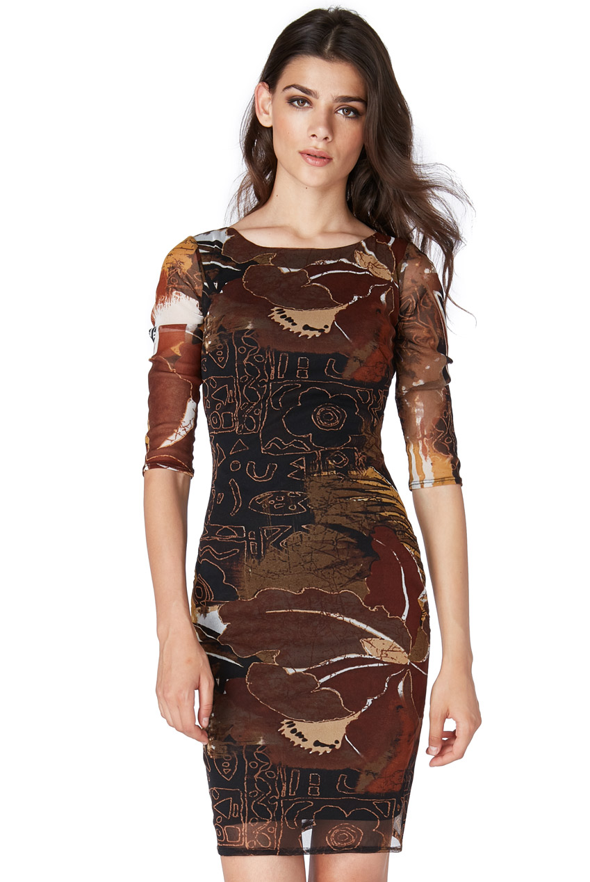 Wholesale Printed Bodycon Mini Dress