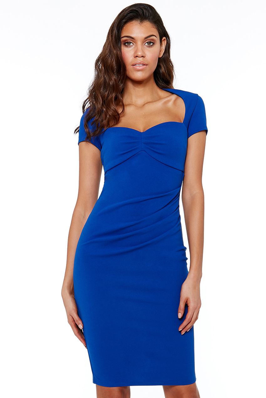 Wholesale Heart Neck Midi Dress