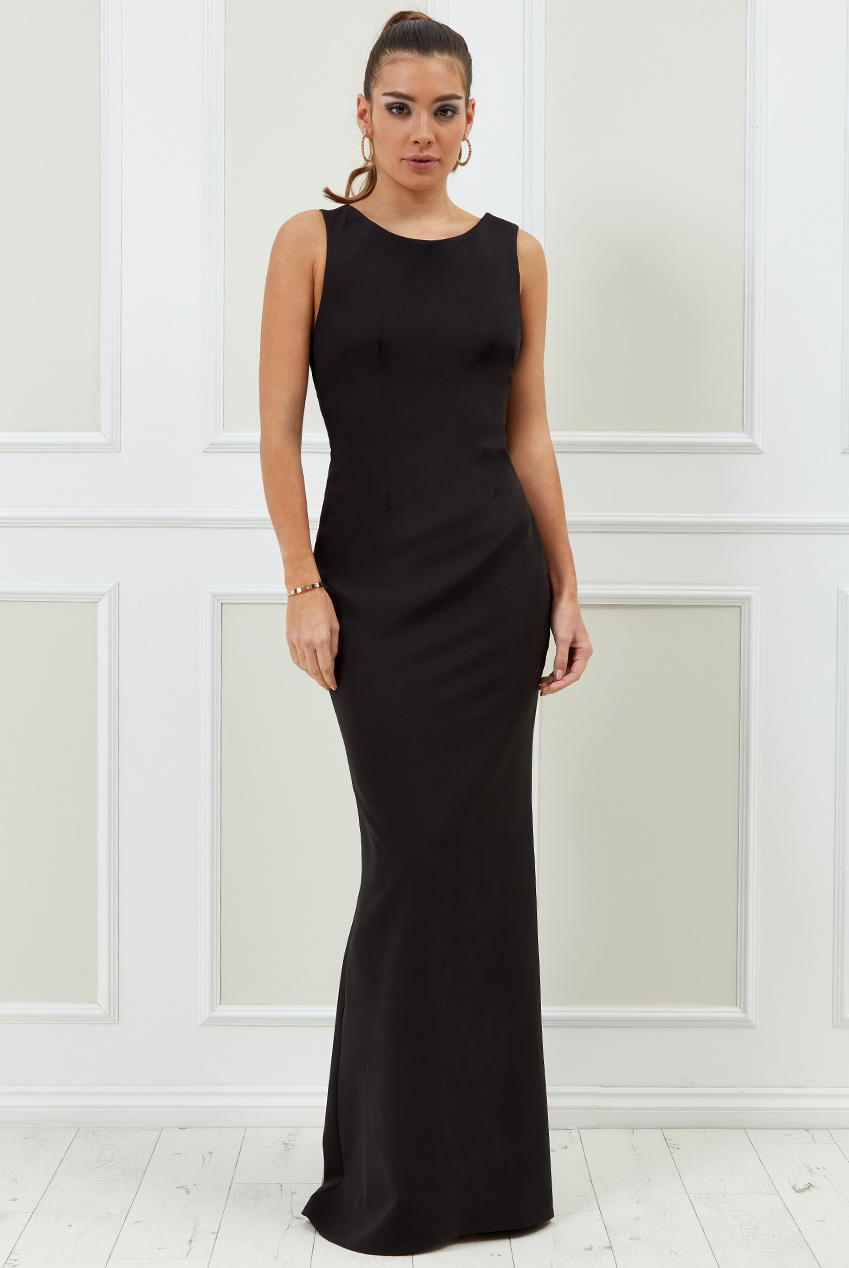 Wholesale Vicky Pattison – Low Back Strap Bow Maxi Dress
