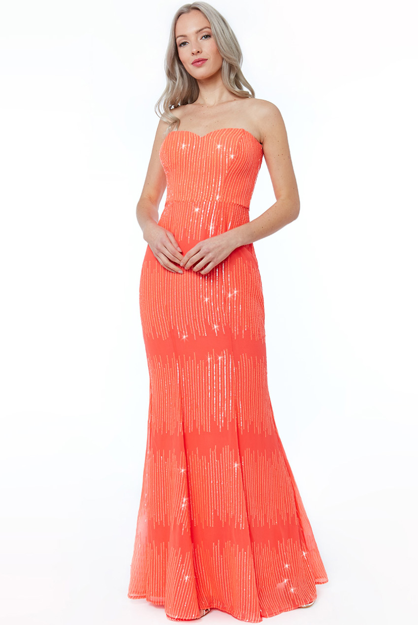 Wholesale Sequin Bandeau Maxi Dress