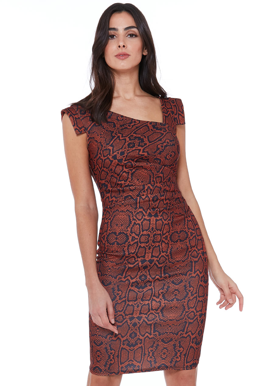 Wholesale Snakeprint Midi Dress