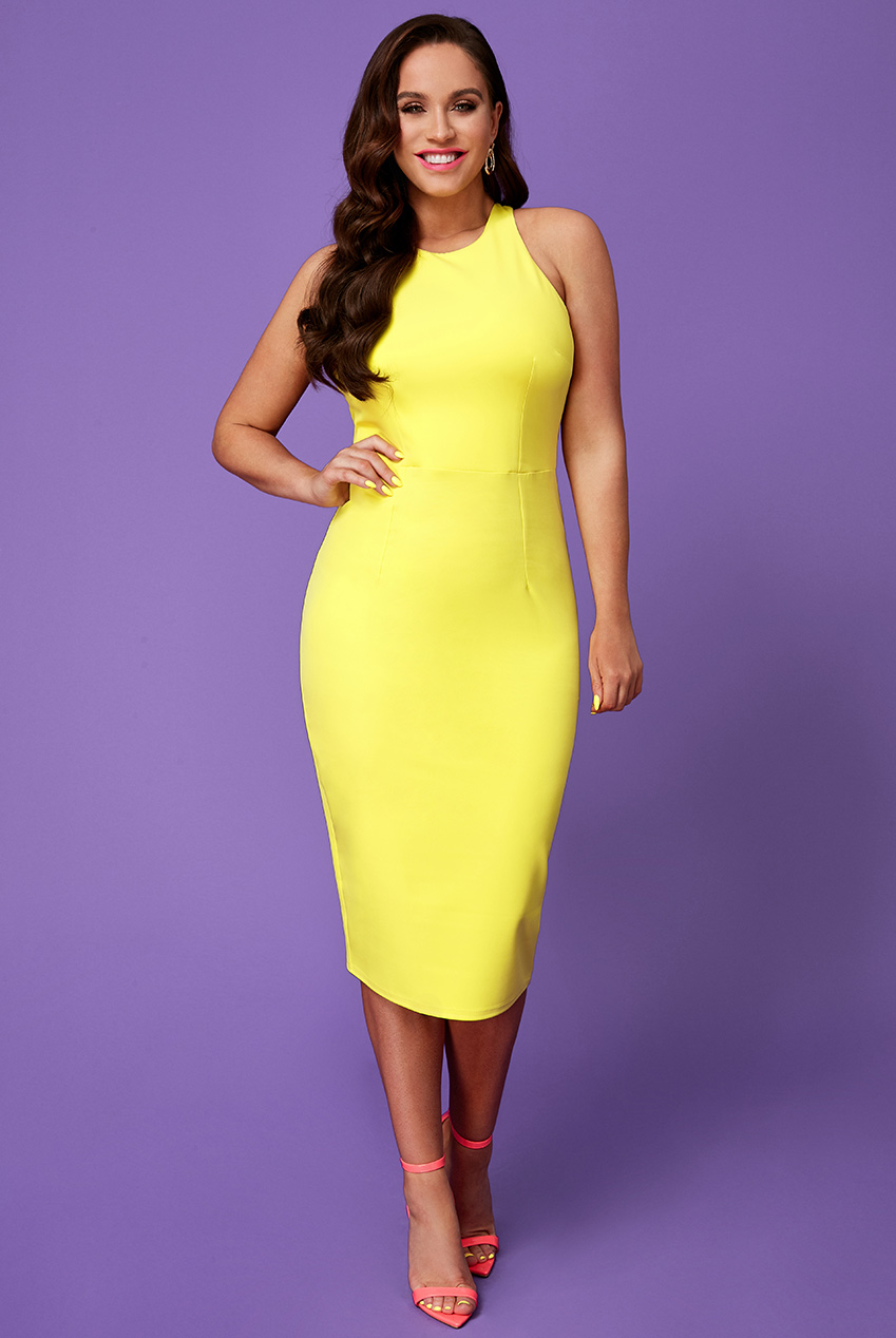 Wholesale Vicky Pattison – Bow Back Midi Dress