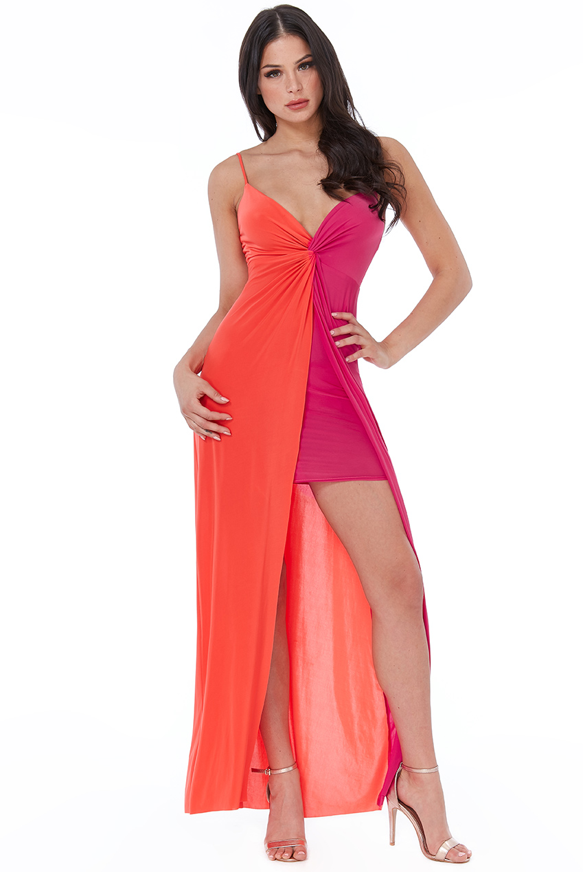 Wholesale Colour Block Maxi Dress