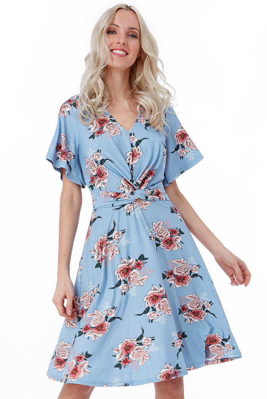 Wholesale Cosmochic - Floral Print Tea Dress