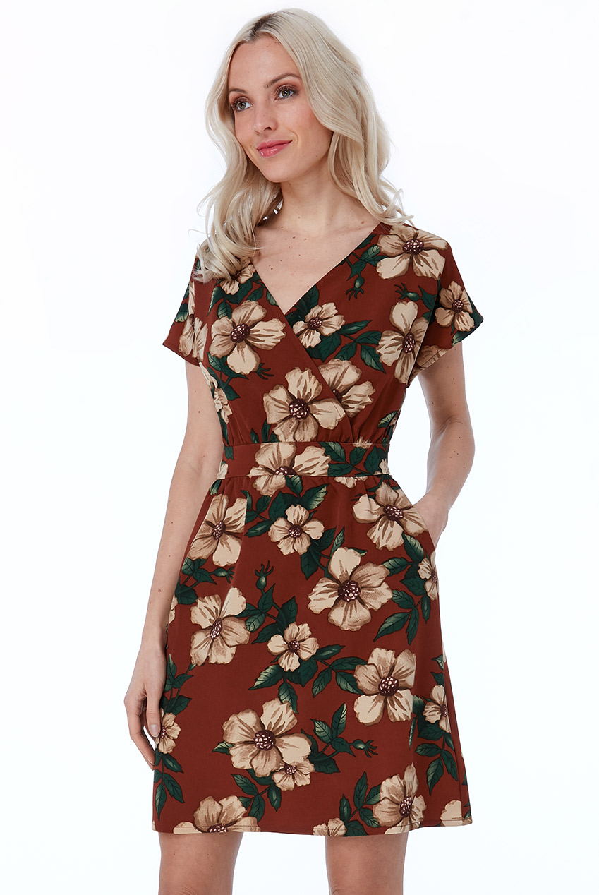 Wholesale Cosmochic - Floral Print Mini Dress
