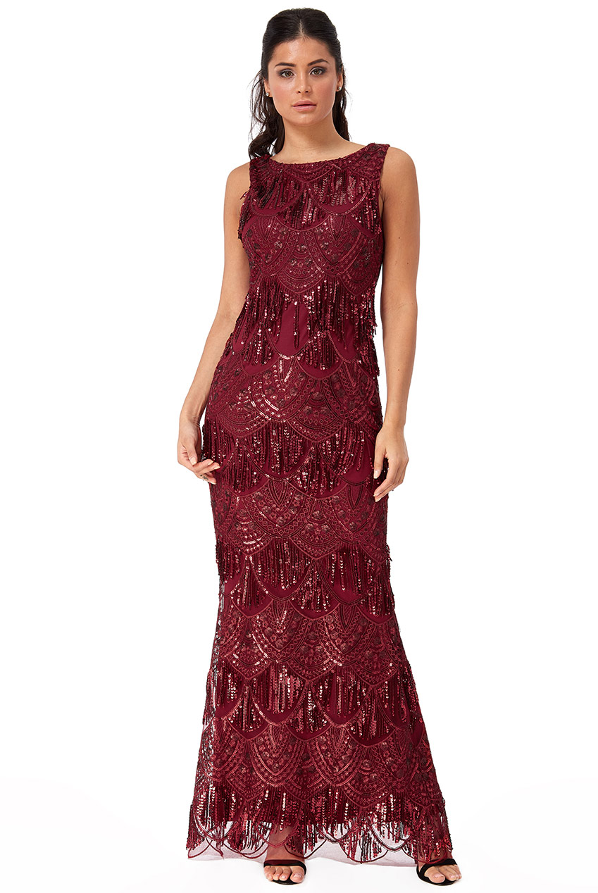 Wholesale Sequin and Lace Maxi Dress