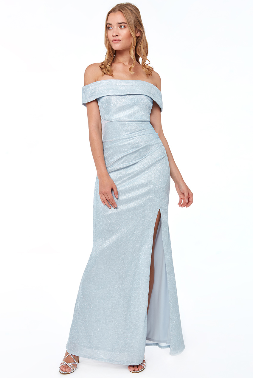 Wholesale Off the Shoulder Maxi with Slit