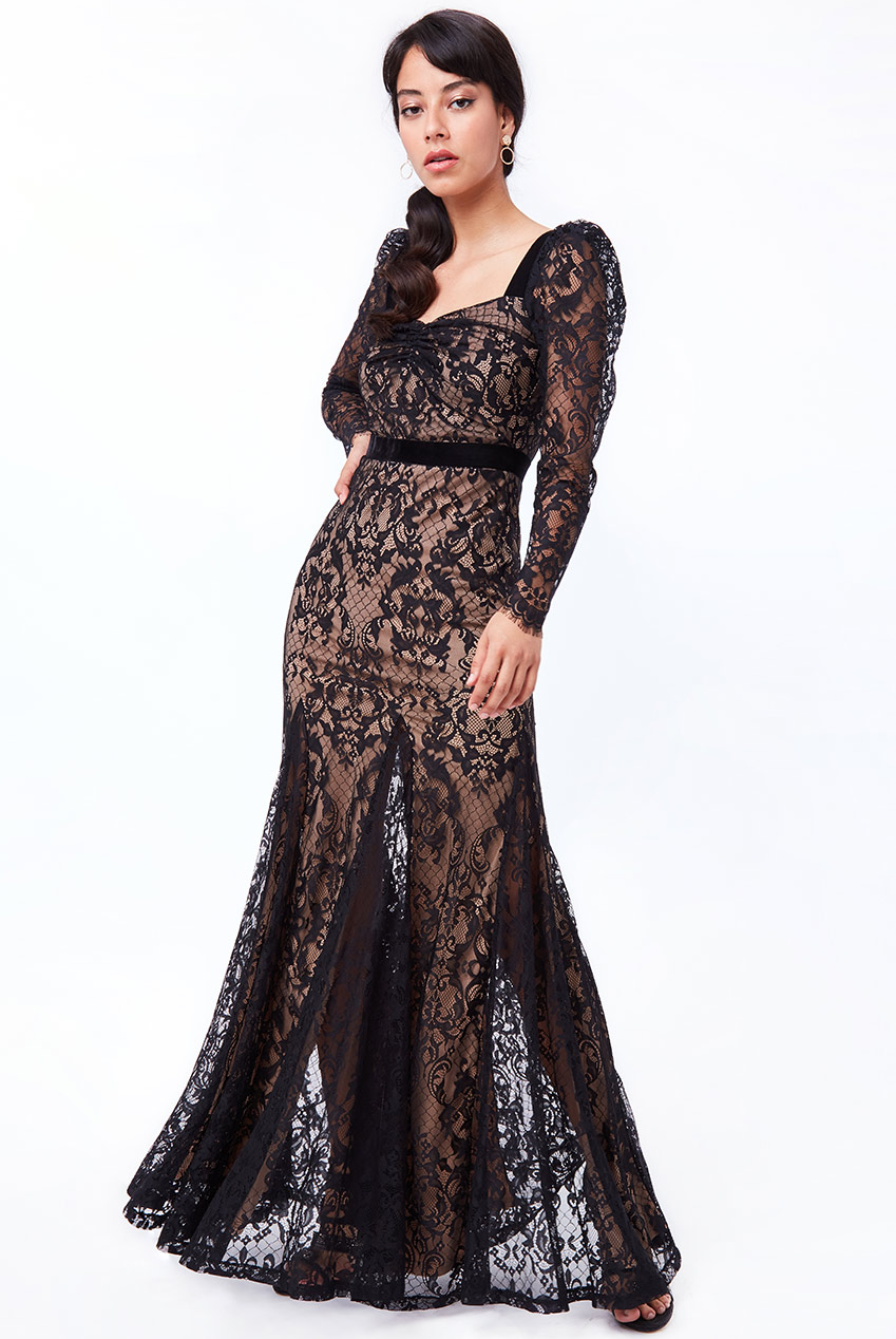 Wholesale Woven eyelash lace maxi dress