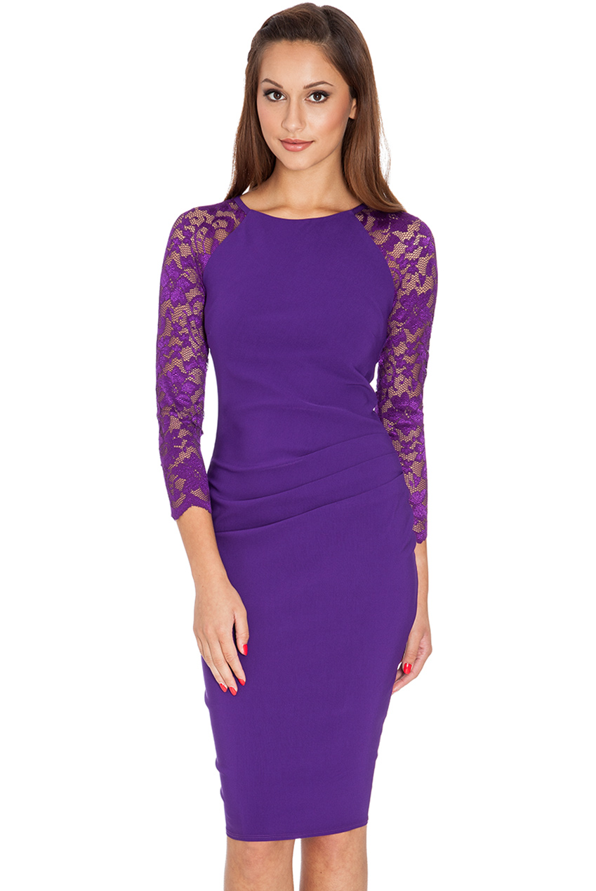 Wholesale Raglan Lace Sleeved Dress