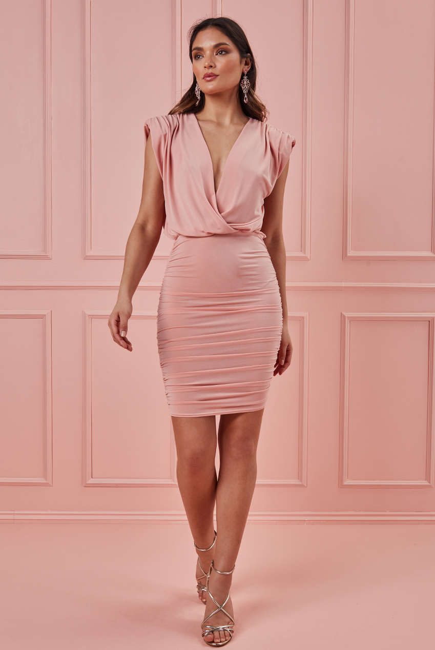 Wholesale Wrap Style Bodycon Mini Dress