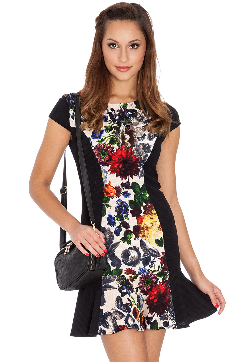 Wholesale Floral Frill Dress