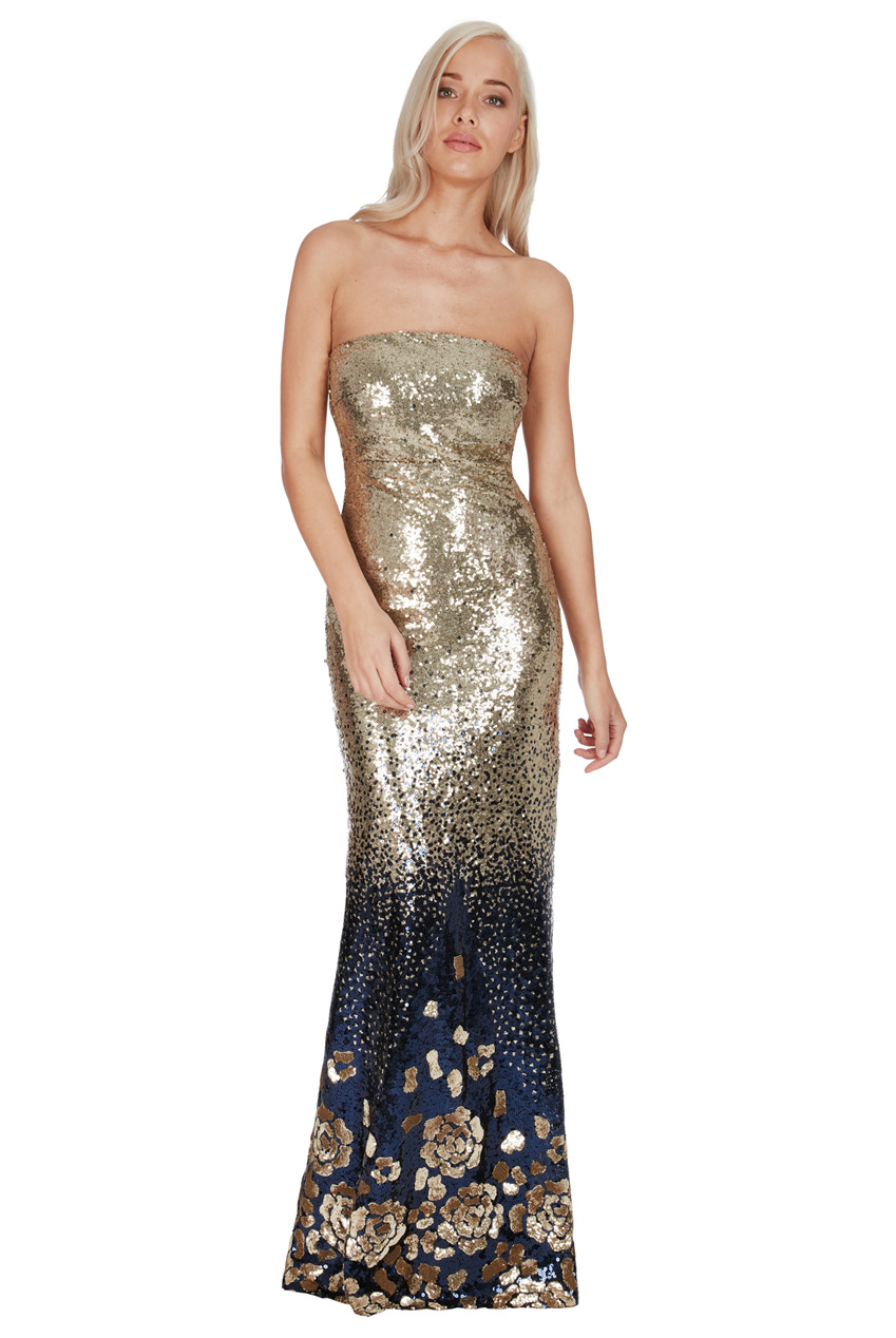 Wholesale Gradieted Sequin Maxi Dress