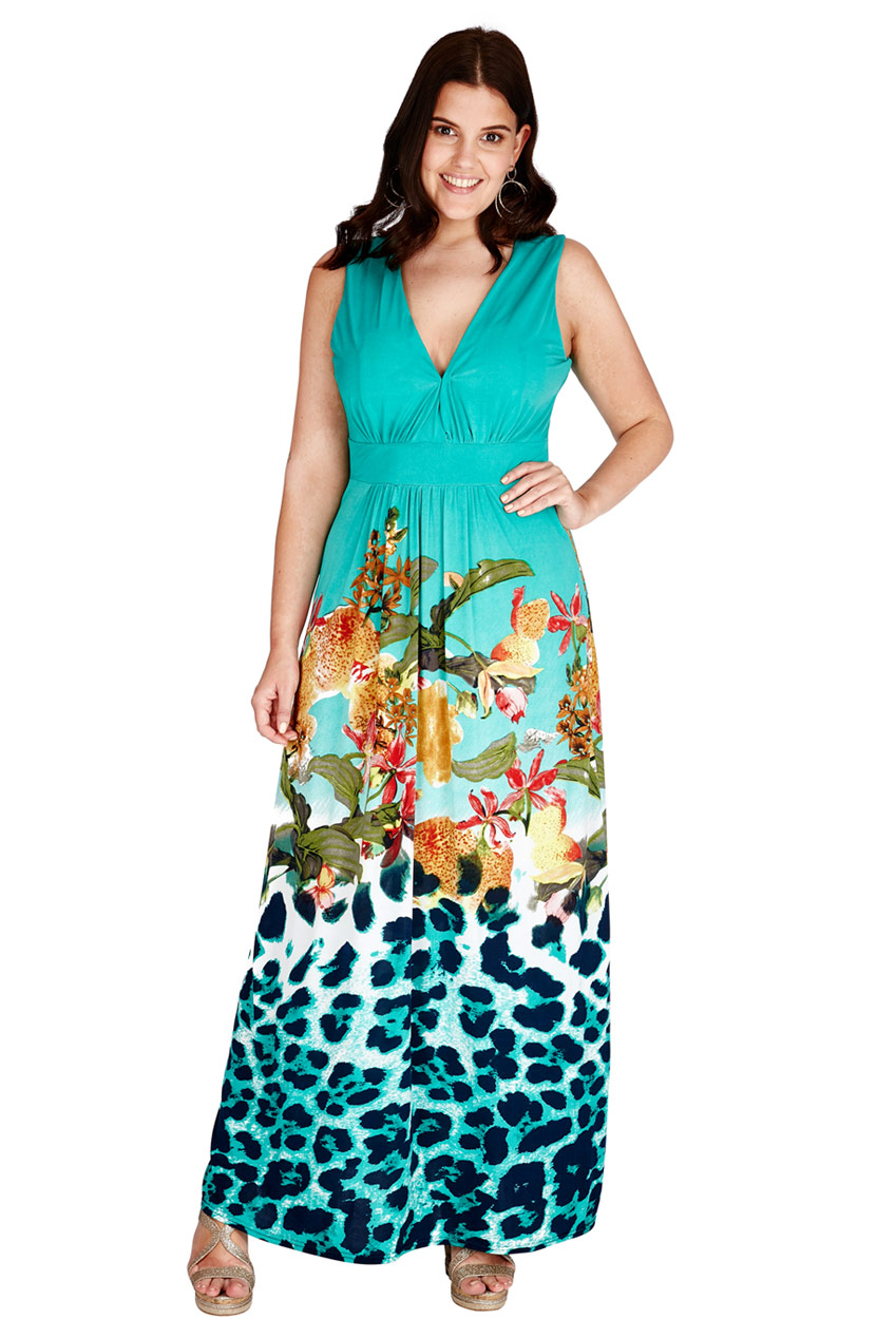 Wholesale Plus Size Gradient Maxi Dress - City Goddess